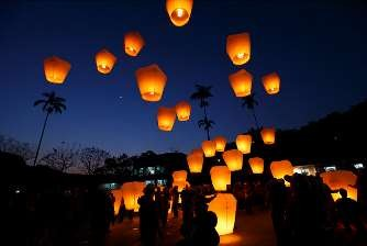 floating sky lanterns